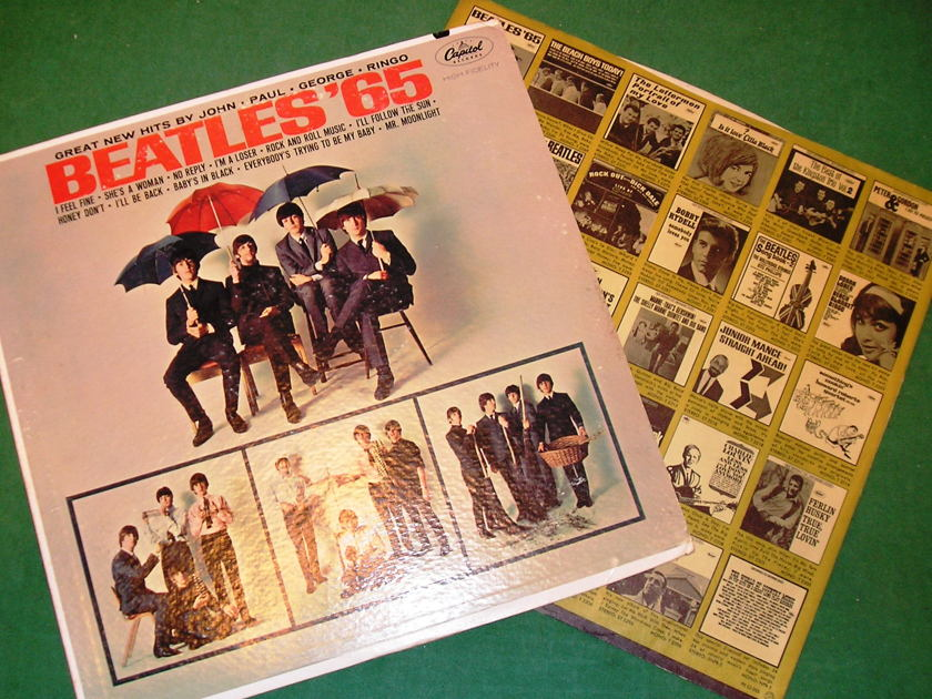 "BEATLES (The)  ""BEATLES '65"" - CAPITOL MONO 1st PRESS (EAST COAST) *  ORIGINAL SLEEVE - 9/10  *"