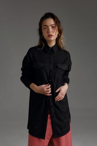 Женская рубашка-платье LOVE-li-NESS из натуральной шерсти