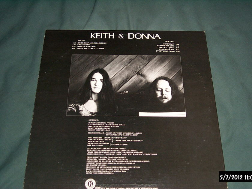 Keith & Donna - Keith & Donna grateful dead members lp nm