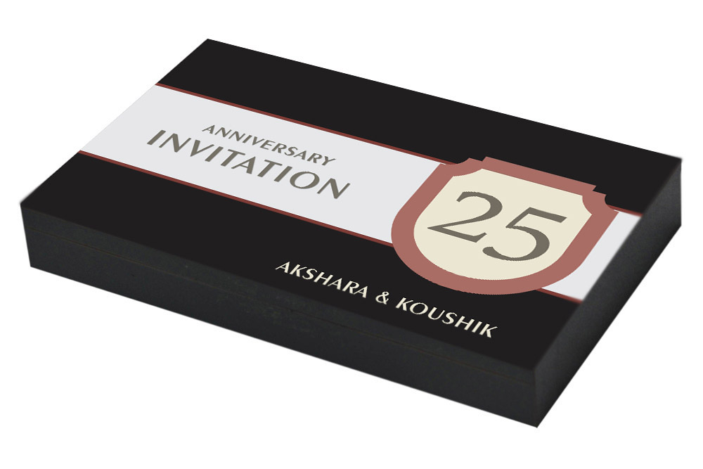 Classic Invitation for 25th Anniversary