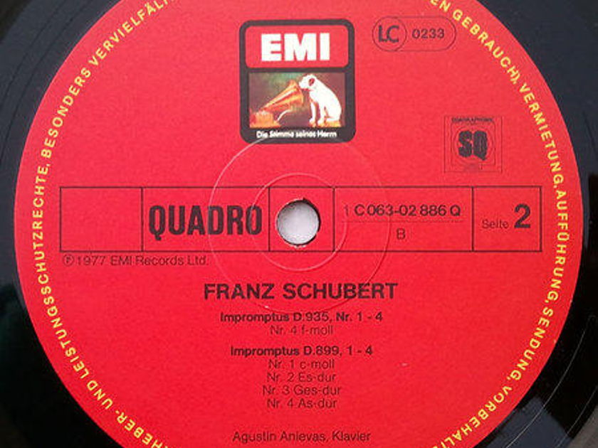 German EMI/Agustin Anievas/Schubert - Impromptus D. 899 & 935 / NM