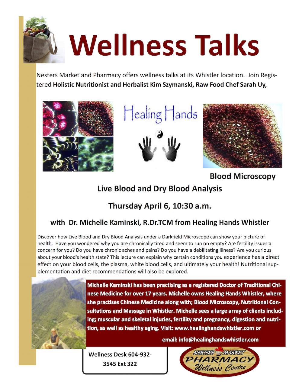 Wellness Talks at Nesters on Blood Analysis