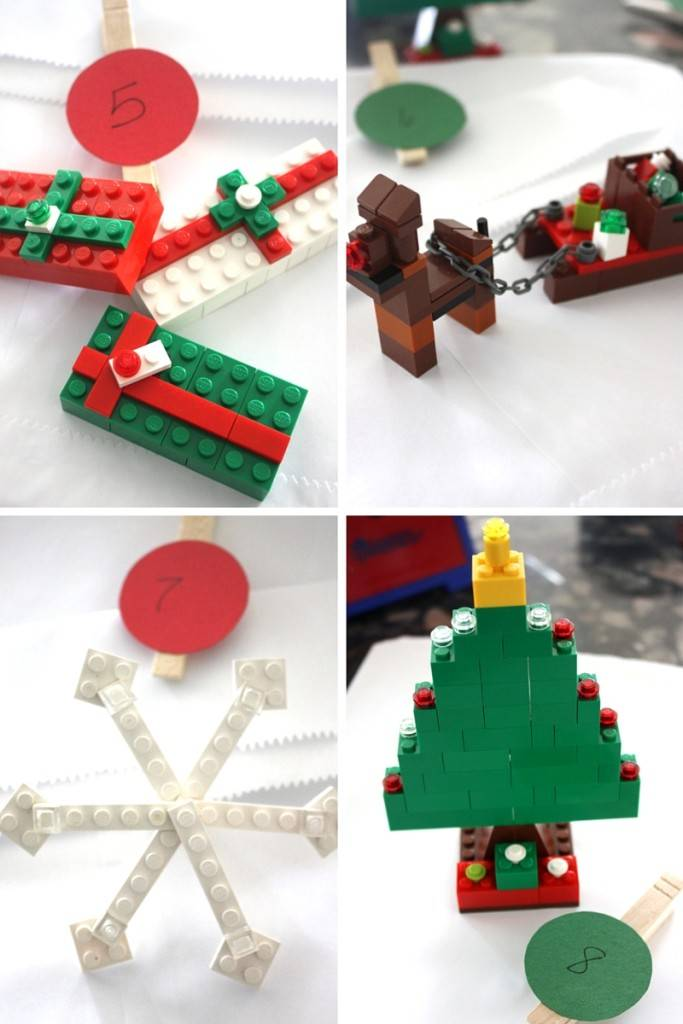 different lego christmas ornaments