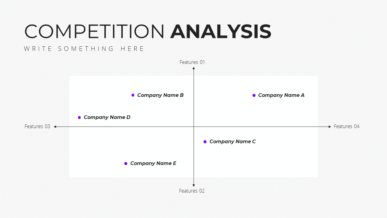 Minimal X  Pitch Deck Presentation Template Competition Analysis