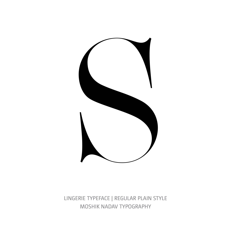 Lingerie Typeface Regular Plain S