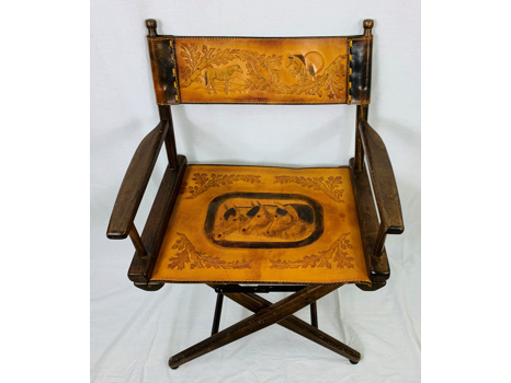 Embossed Leather Director's Chair