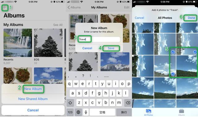 Create iPhone Albums