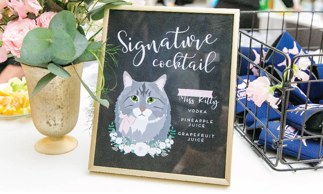 Navy and Gold Wedding Welcome Sign