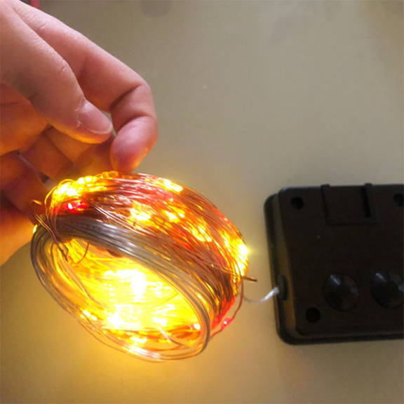 Solar fairy lights for outdoor powered by solar power, use with remote control. Warm LED light solar fairy lights.