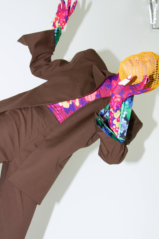 floral sweater and blazer richard quinn h lorenzo ss18