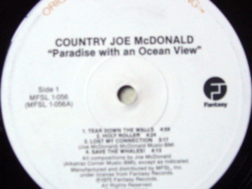 ★Audiophile★ MFSL / COUNTRY JOE McDONALD, - Paradise with an Ocean View, NM!