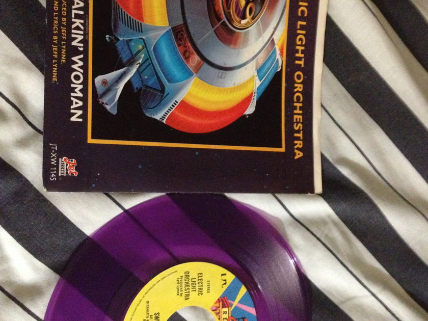 ELO - Sweet Talkin Woman Purple Vinyl 45 With Sleeve Jet/UA Label