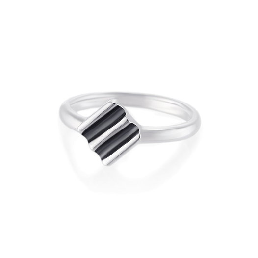 Кольцо KIVA с чернением