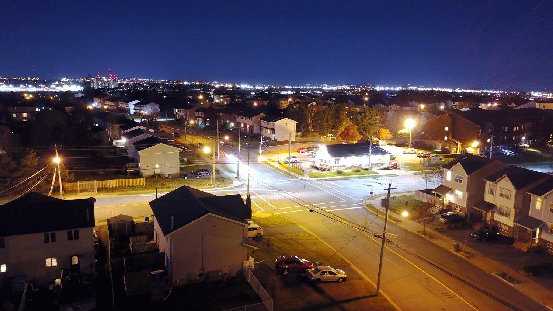 Low light photo taken by the Mavic Pro