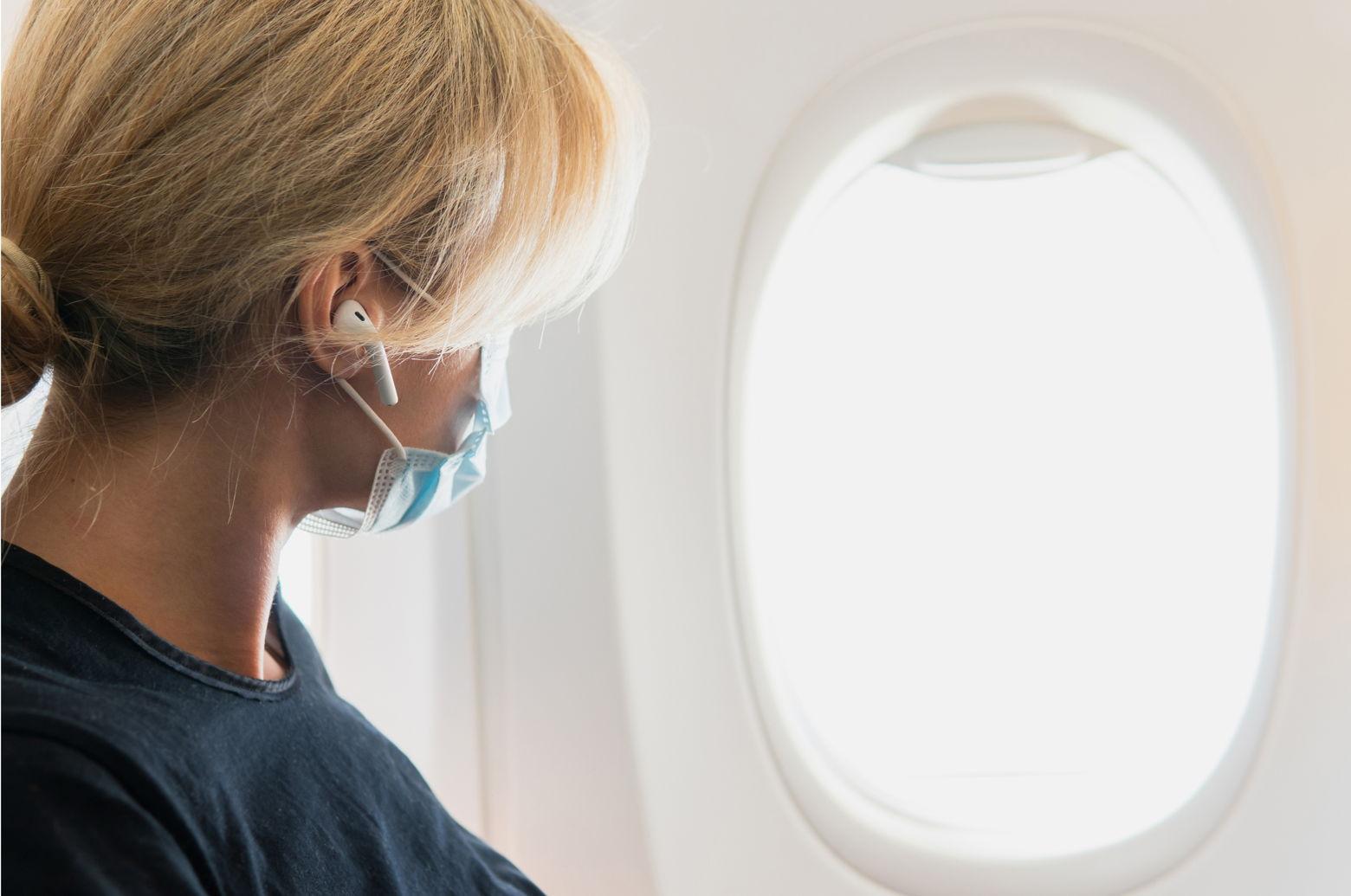 Grandma on an airplane