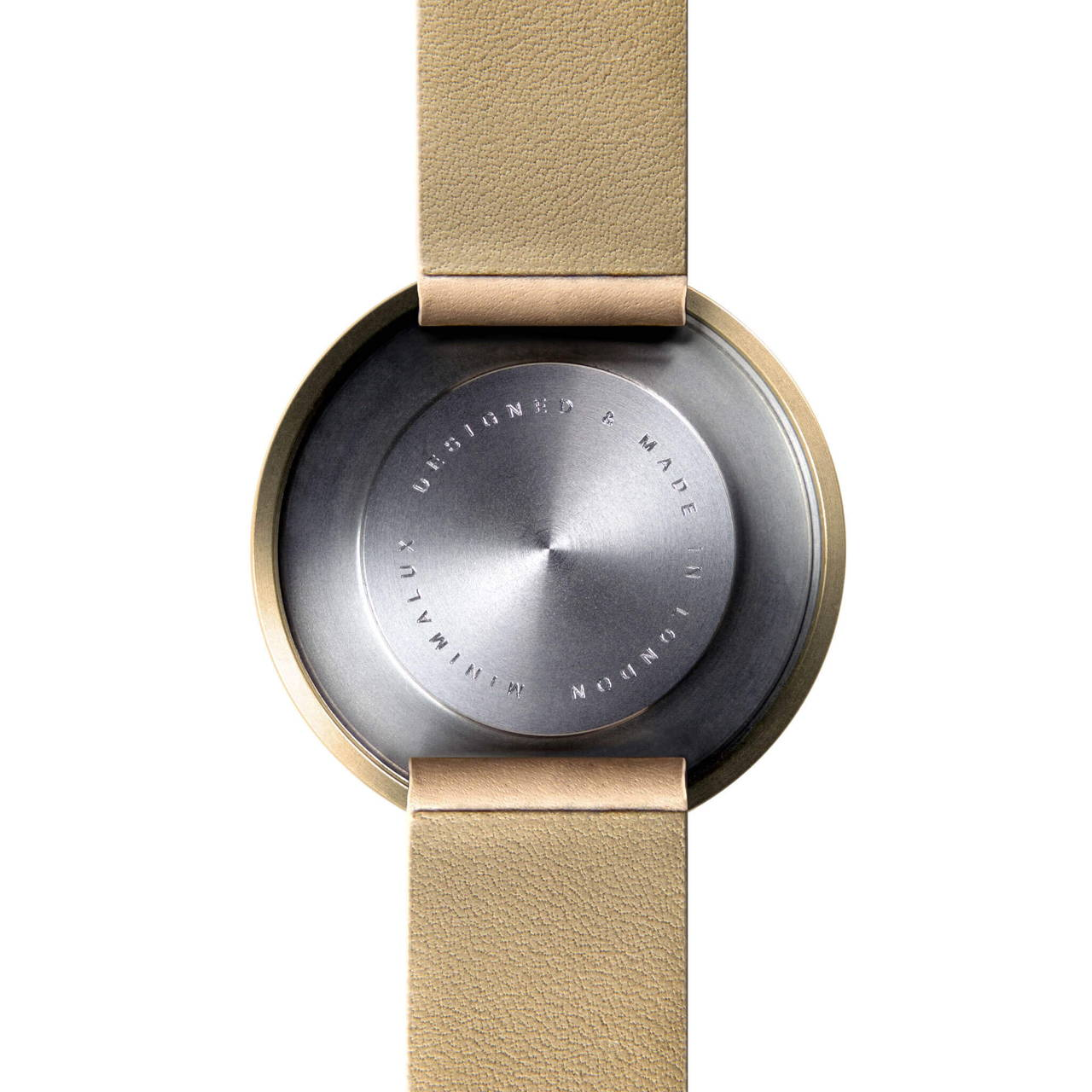 Timeless Wrist Mirror back face with Tan Leather Strap