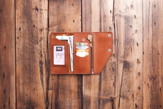 Biker wallet No.10  Портмоне для денег с мелочью и документов