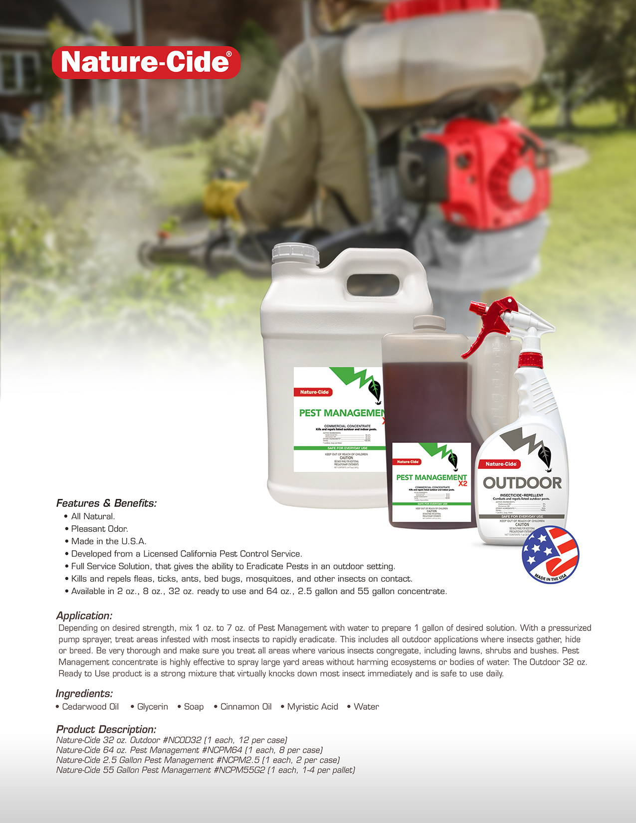 Nature-Cide Pest Management Product Info