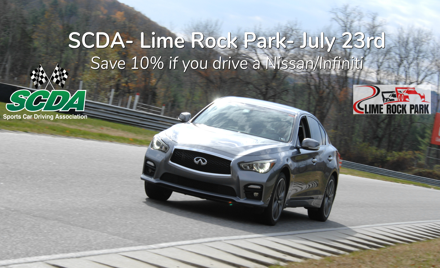 SCDA- Lime Rock Park- Track Event- July 23rd