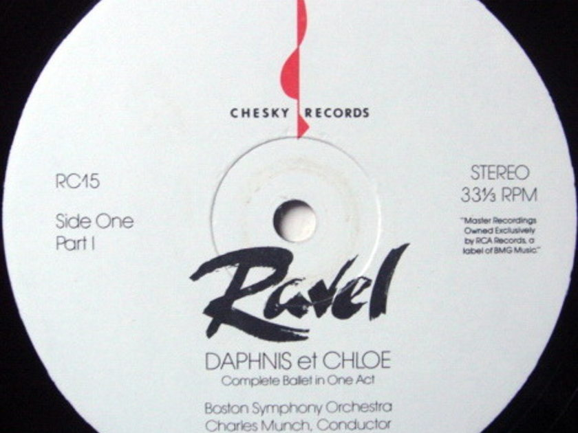 ★Audiophile★ Chesky / MUNCH, - Ravel Daphnis et Chloe, MINT(OOP)!