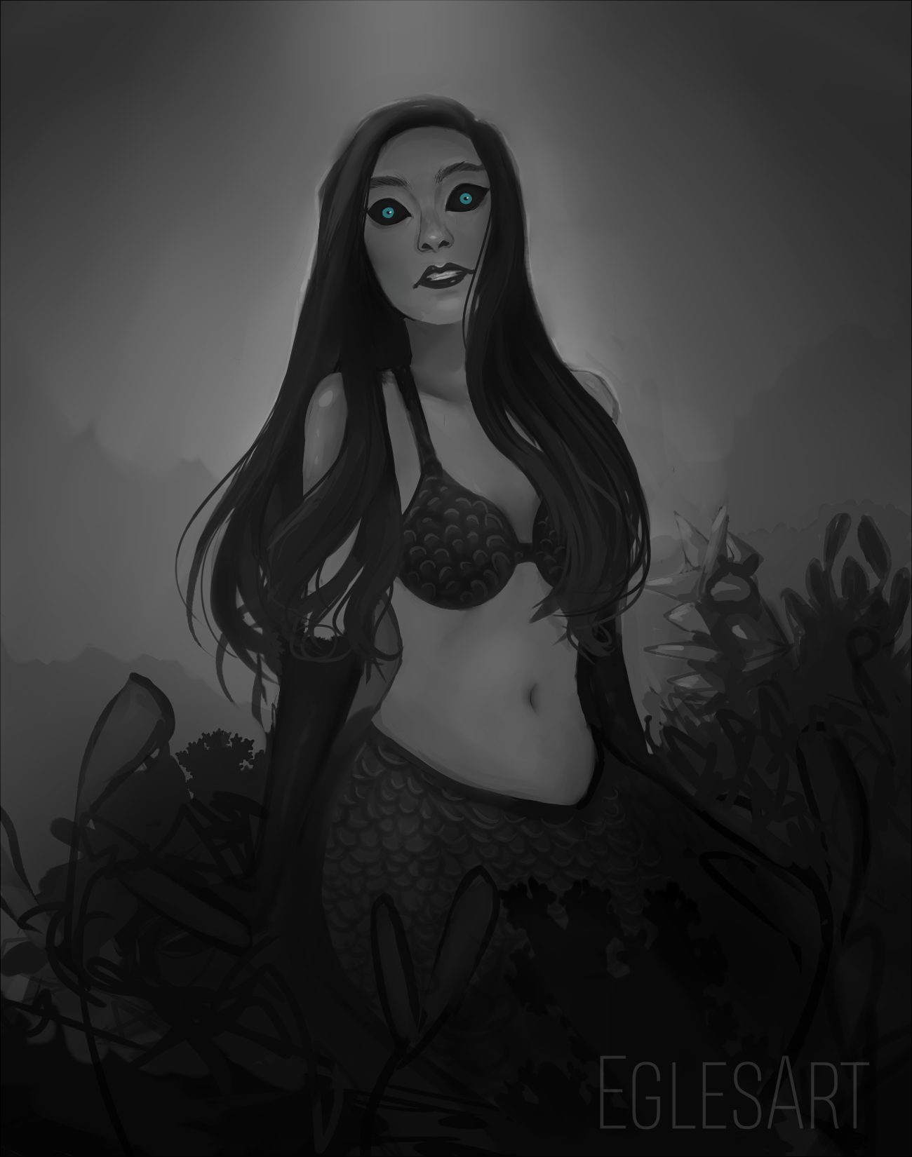 Siren, a drawing by Eggylyte