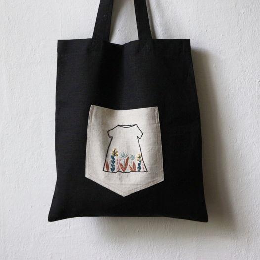 Сумка-шоппер с вышивкой Embroidery Dress