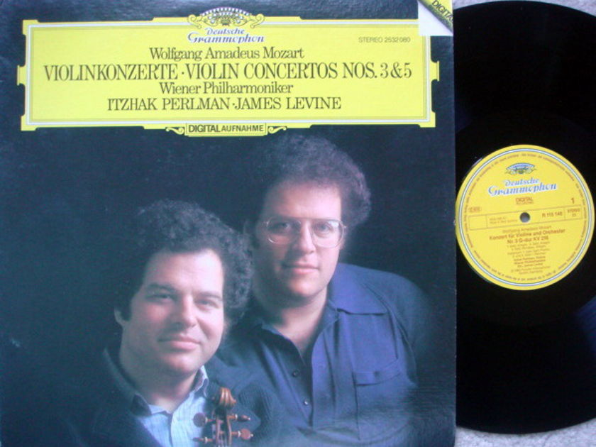 DG Digital / Mozart Violin Conerto No.3 & 5, - PERLMAN/LEVINE/VPO, MINT!