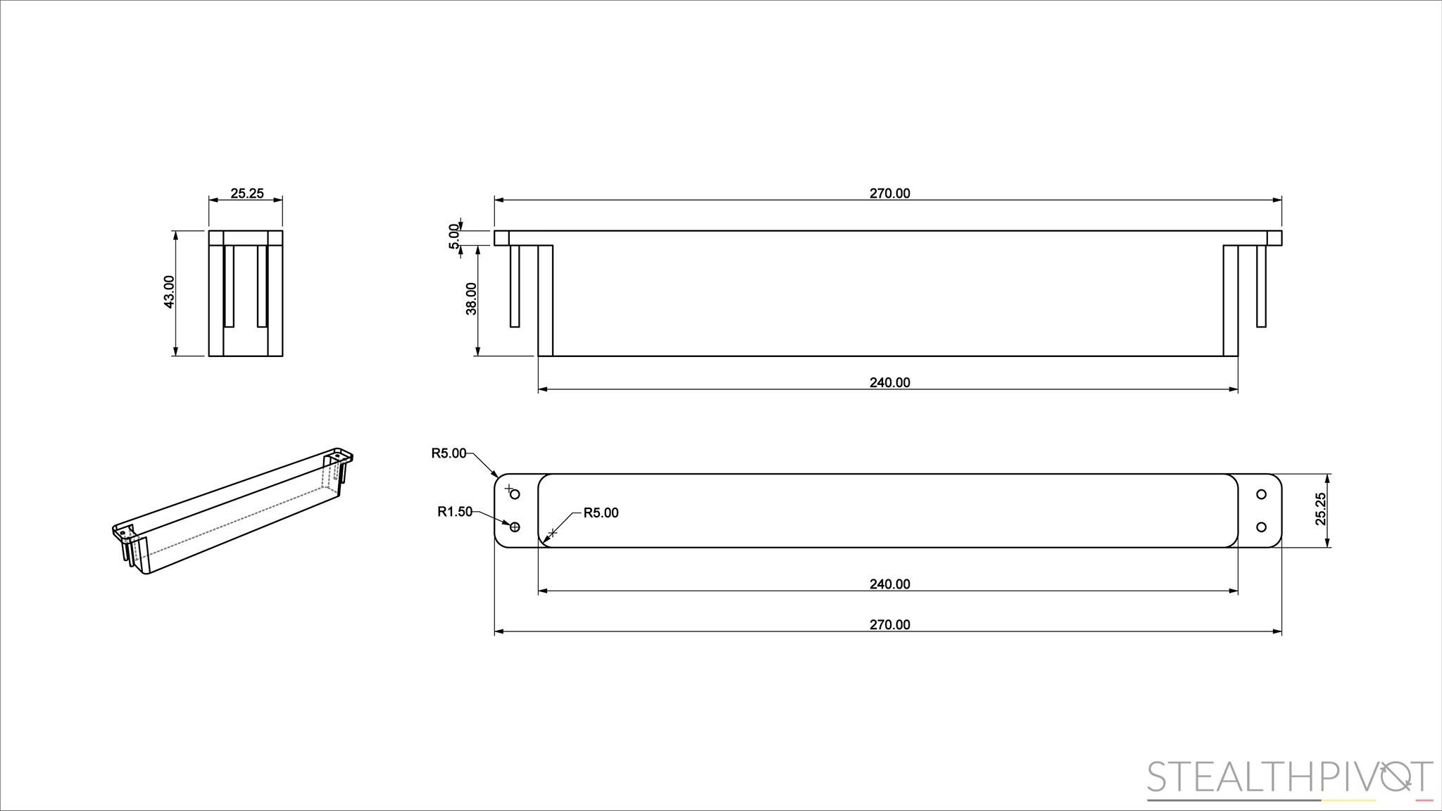 Stealth Pivot XL dimensions