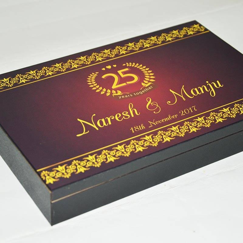 25th Wedding Anniversary Invitation Return Gifts Chococraft