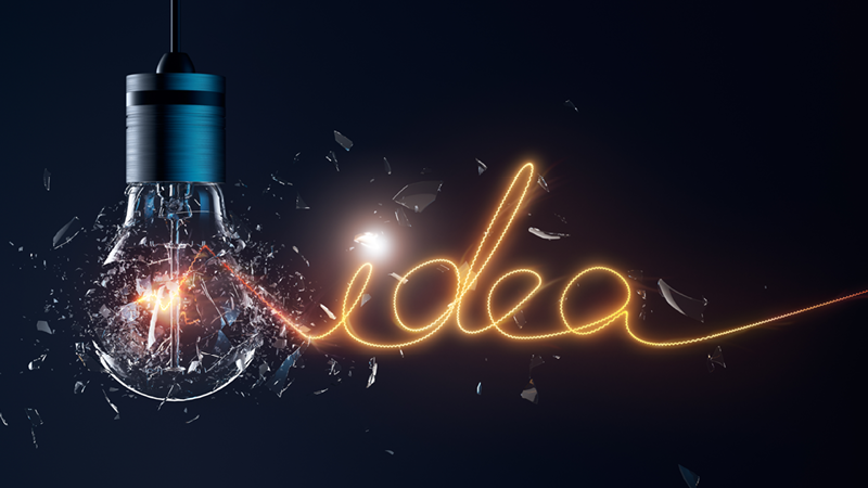 Concept light bulb for bespoke packaging
