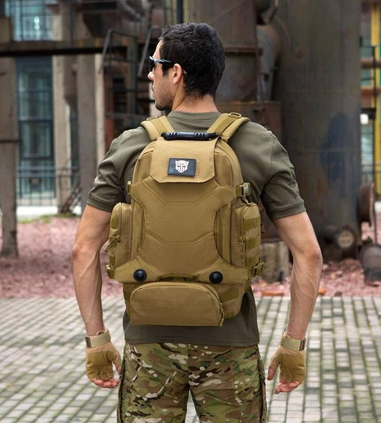 army tan 70L Tactical Backpack