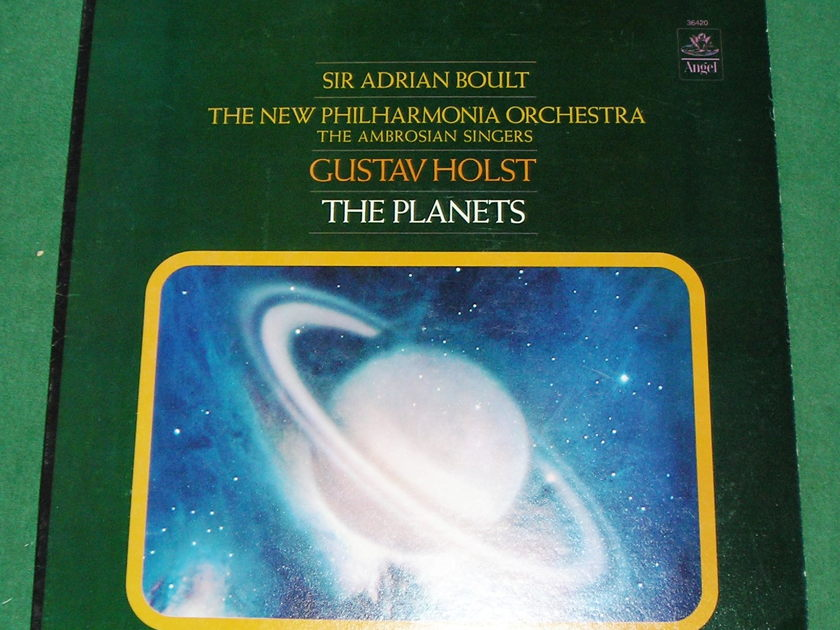 SIR ADRIAN BOULT - THE PLANETS  - ANGEL RECORDS STEREO 36420 * NM 9/10 *