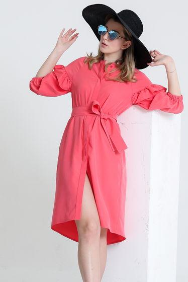 Платье - рубашка укороченное