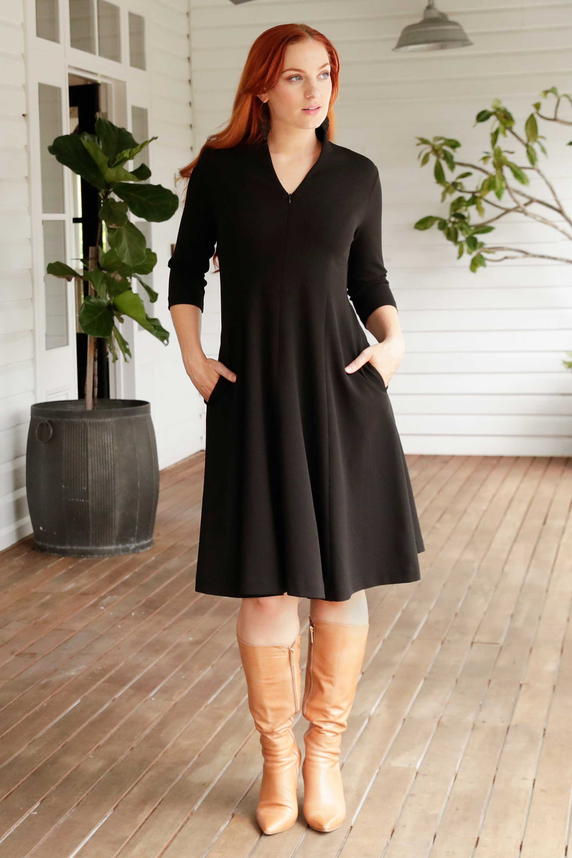 Leina & Fleur have Designed the Clara Dress in Dress for the Professional Woman. Comfortable and Stylish Dress for Work. Leina & Fleur are Proudly Australian Made and Carry Sizes 8 to 24.