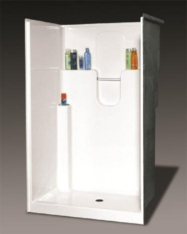 48IN. SHOWER WITH SLIDING ENCLOSURE-BONE/WHITE
