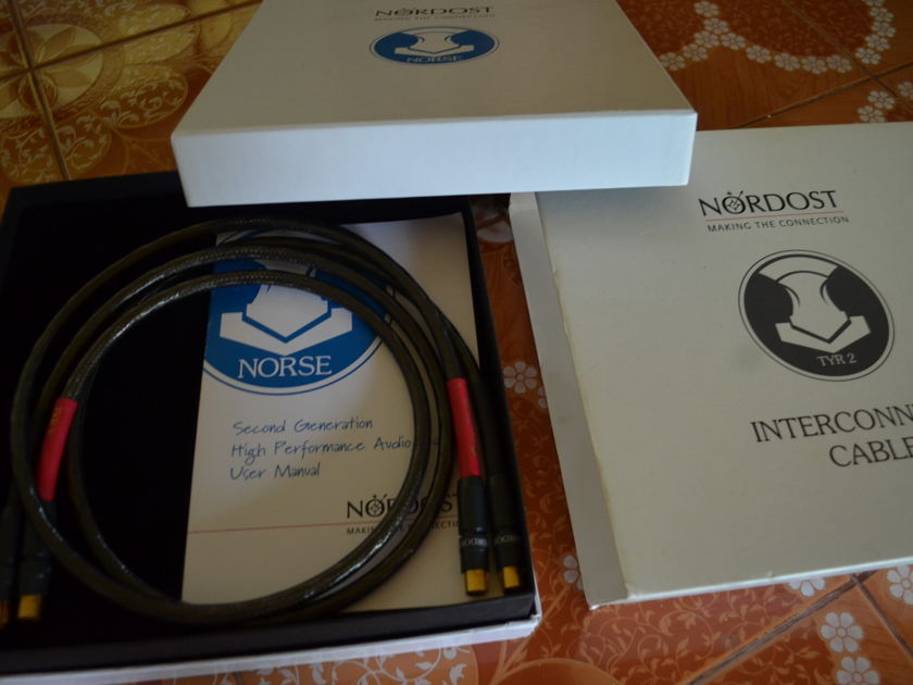 Nordost TYR  2 series pair of interconnects 1m length with box