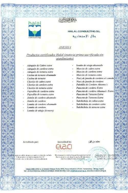 Liste des produits halal
