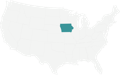 A Map highlighting Iowa