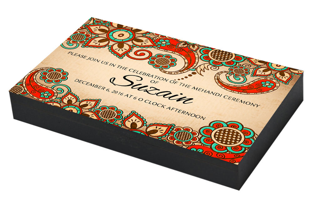 Border framed Mehandi Invitation