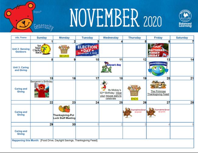 November 2020 Events