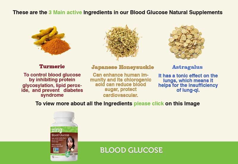 Blood Glucose Ingredients