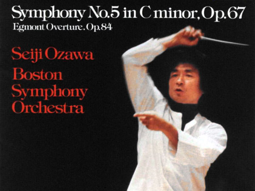 Audiophile TELARC | OZAWA/BEETHOVEN - Symphony No. 5 / German Pressing / NM