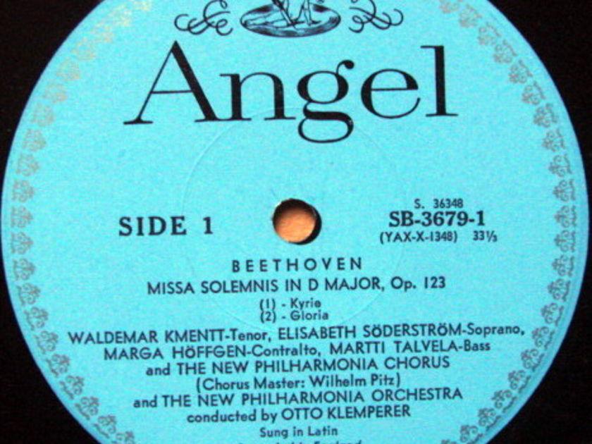 EMI Angel Blue / KLEMPERER, - Beethoven Missa Solemnis,  MINT, 2LP Box Set!