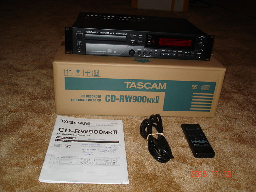 Tascam CDRW900 MK2 CD Recorder