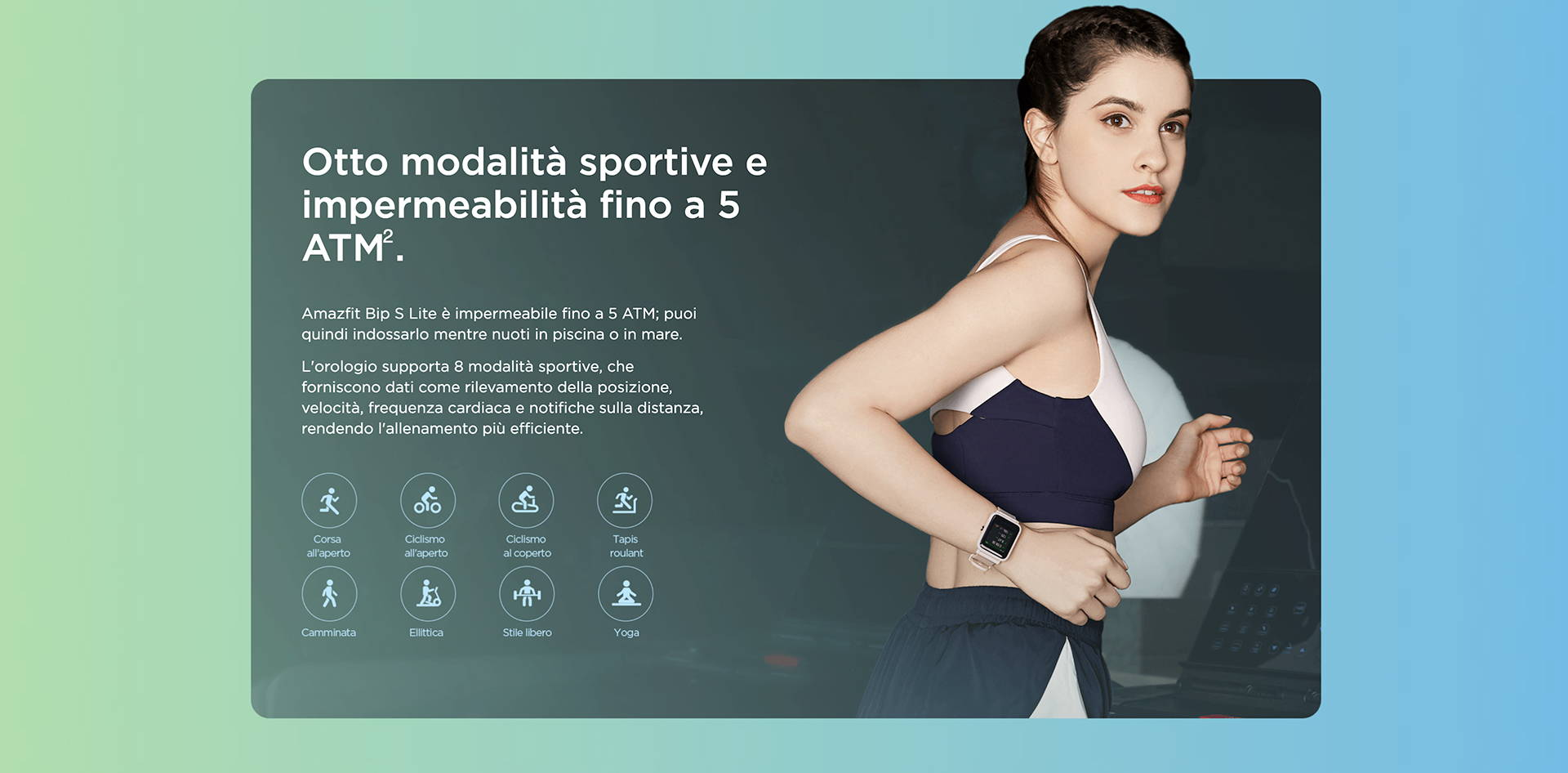 Amazfit IT - Amazfit Bip S Lite - Otto modalità sportive e impermeabilità fino a 5 ATM.