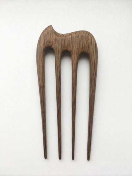 """Деревянная шпилька """"Слоник"""" для волос из мореного дуба"""