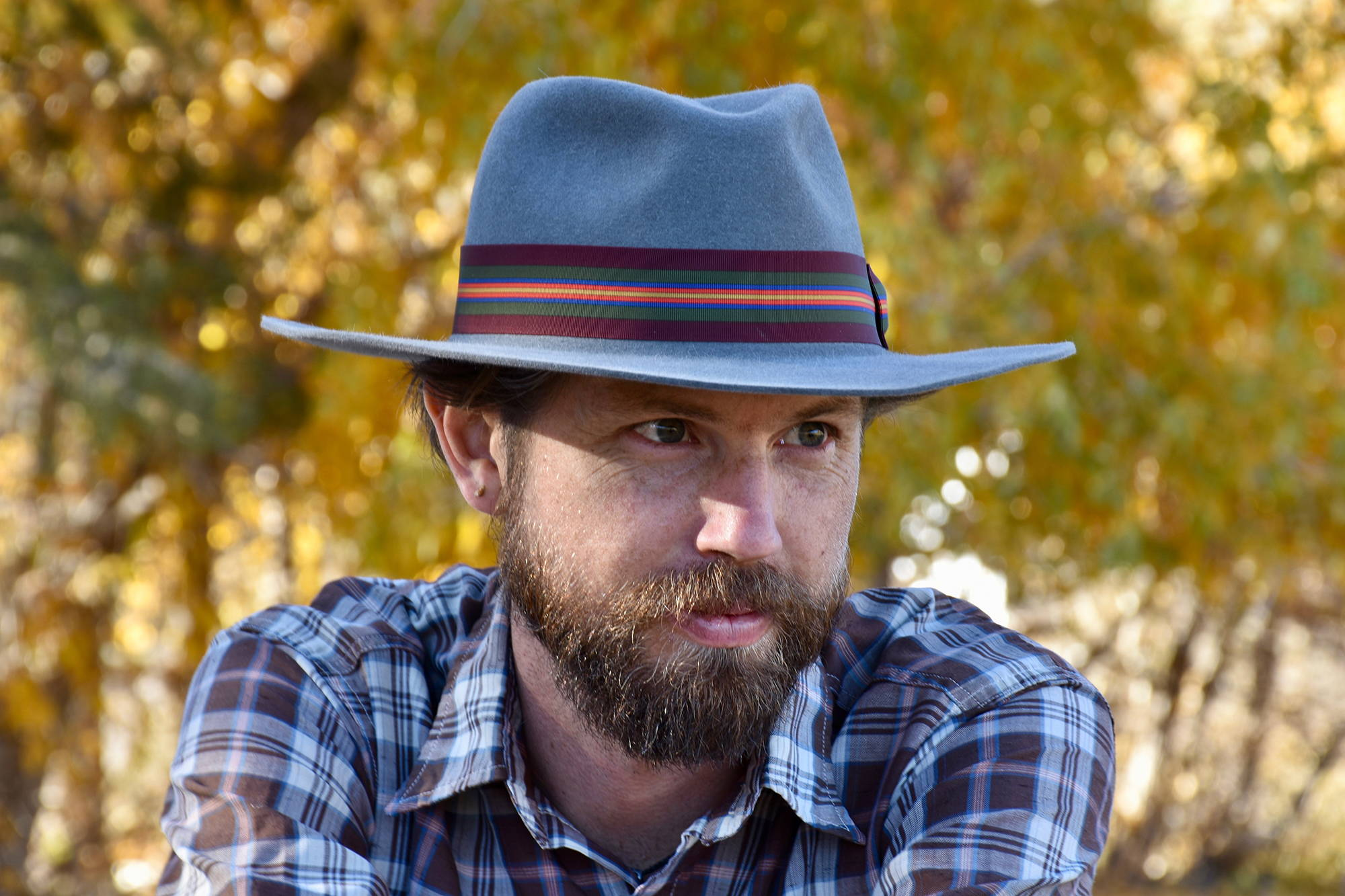 Men's Granite Gray Fedora