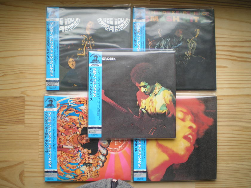 Jimi Hendrix - all 5 classical records Japan mini-lp