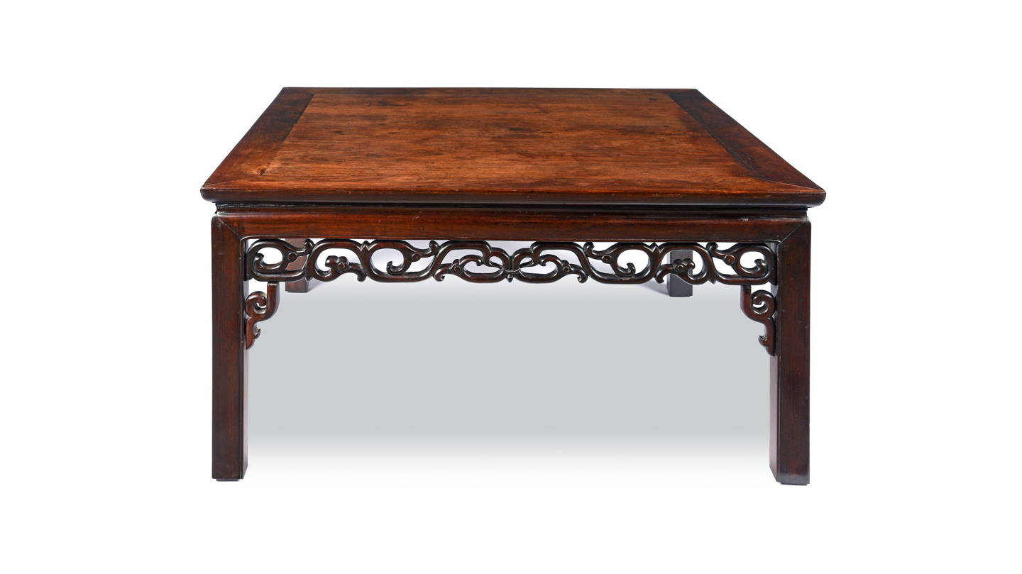 Antique Carved Qing Chinese Rosewood  Opium Coffee Table | Indigo Antiques