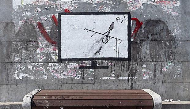 В Екатеринбурге появились граффити, посвященные Владимиру Соловьеву - Новости радио OnAir.ru